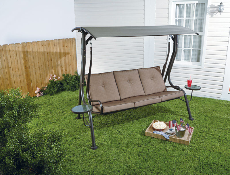 Jack Post Jennings Wood Porch Swing 60 in. 21-1/2 in. 1 2 person 17 ...