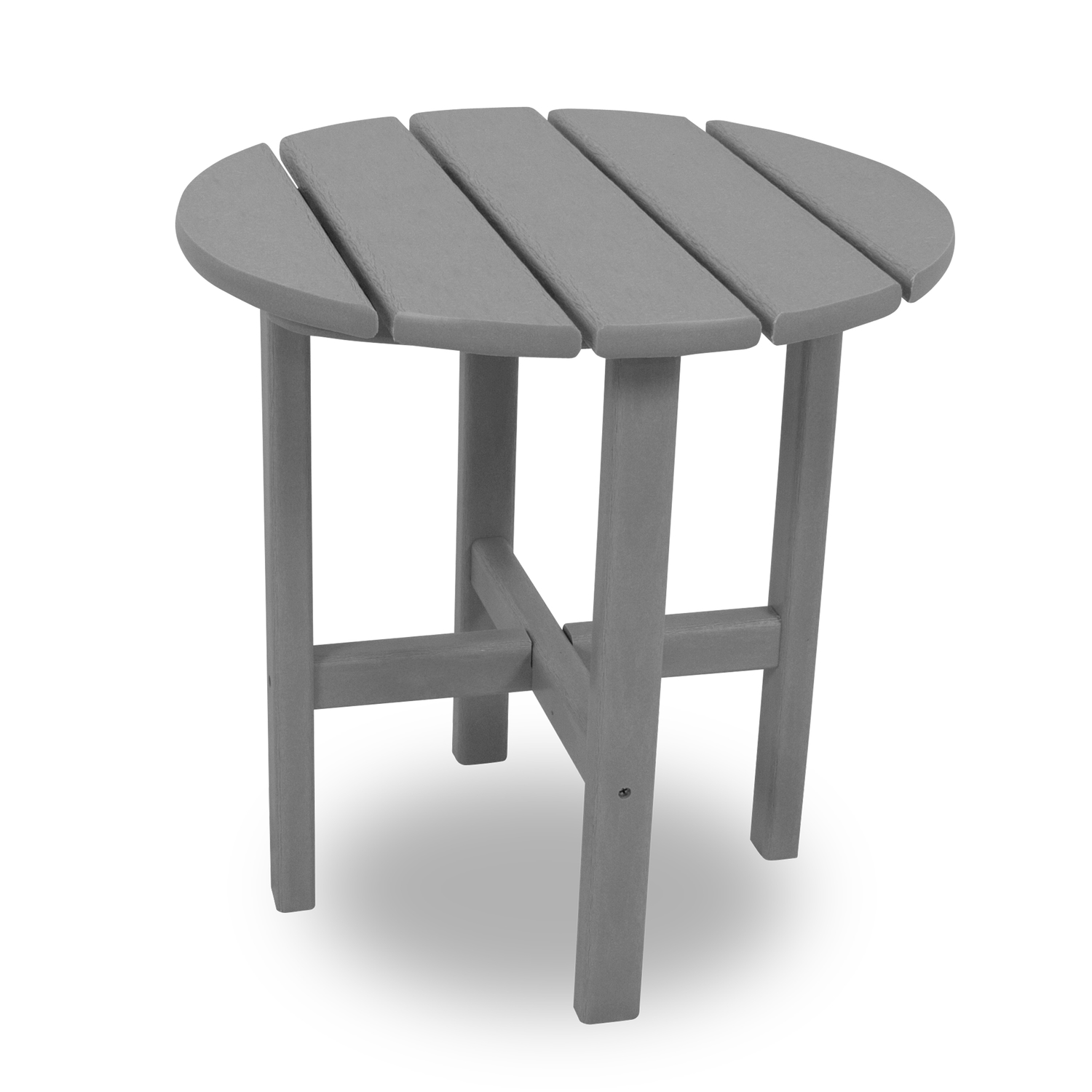 Ivy Terrace  Gray  Classic  Round  Plastic  End Table