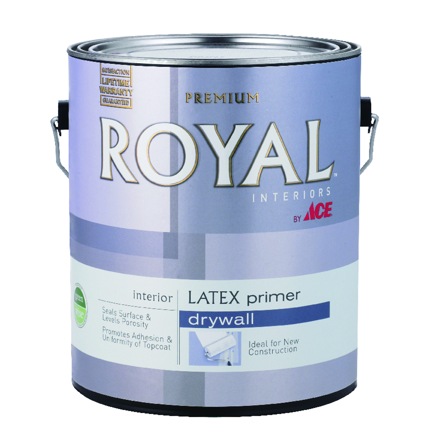 Ace  Royal  White  Flat  Acrylic Latex  PVA Primer  1 gal. For Drywall