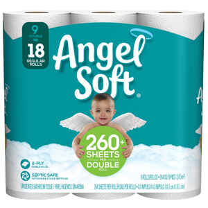 Angel Soft  Toilet Paper  9 roll 264 sheet 264 SQFT