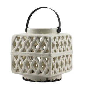 Patio Essentials  Flame  Ceramic  Chinese Lantern  Warm White