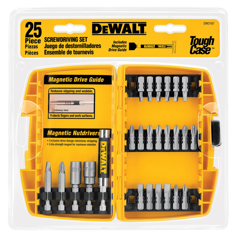 DeWalt  Multi Size in.  x 1 in. L 1/4 in. 25 pc. Screwdriver Bit