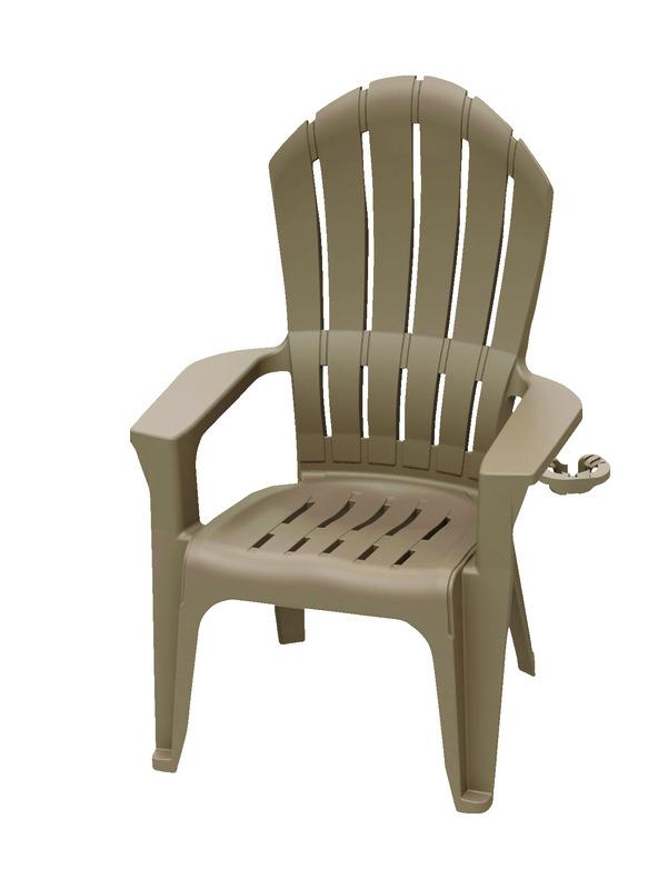 Ordinaire Adams Big Easy Light Brown Polypropylene Adirondack Chair