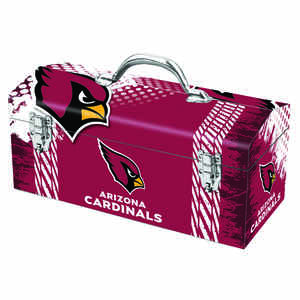 Windco  16.25 in. Steel  Arizona Cardinals  Art Deco Tool Box  7.1 in. W x 7.75 in. H