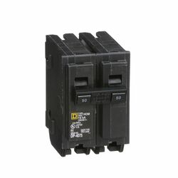 Square D  HomeLine  50 amps Plug In  2-Pole  Circuit Breaker