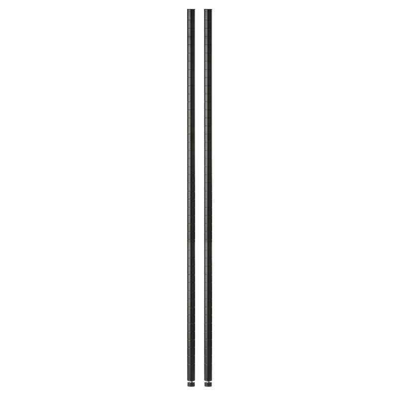 Honey Can Do  1 in. D x 1 in. W x 72 in. H Steel  Shelf Pole with Leg Levelers