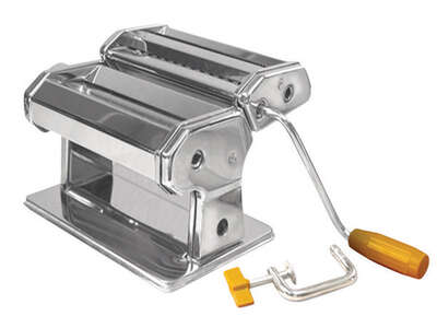 Roma  6 in. W Silver  Stainless Steel  Traditional Style Pasta Machine