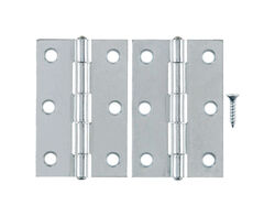 Ace 3 in. L Zinc-Plated Narrow Hinge 2 pk