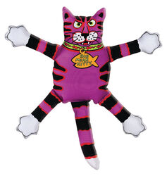 Fat Cat  Multicolored  Assorted Styles  Canvas  Squeak Dog Toy  Small  1