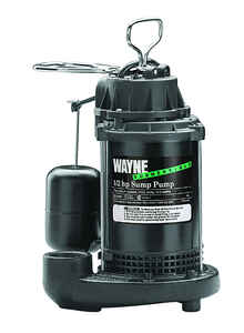 Wayne  1/2 hp 5100 gph Plastic  Submersible Sump Pump