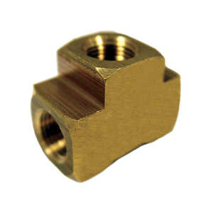 JMF  3/4 in. Dia. x 3/4 in. Dia. x 3/4 in. Dia. FPT To FPT To FPT  Yellow Brass  Tee
