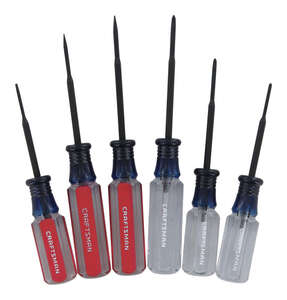 Craftsman  6 pc. Precision Screwdriver Set  Steel  6.5 in.