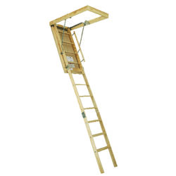 Louisville  10.2 ft. H x 25.5 in. W Wood  Attic Ladder  Type 1  250 lb.