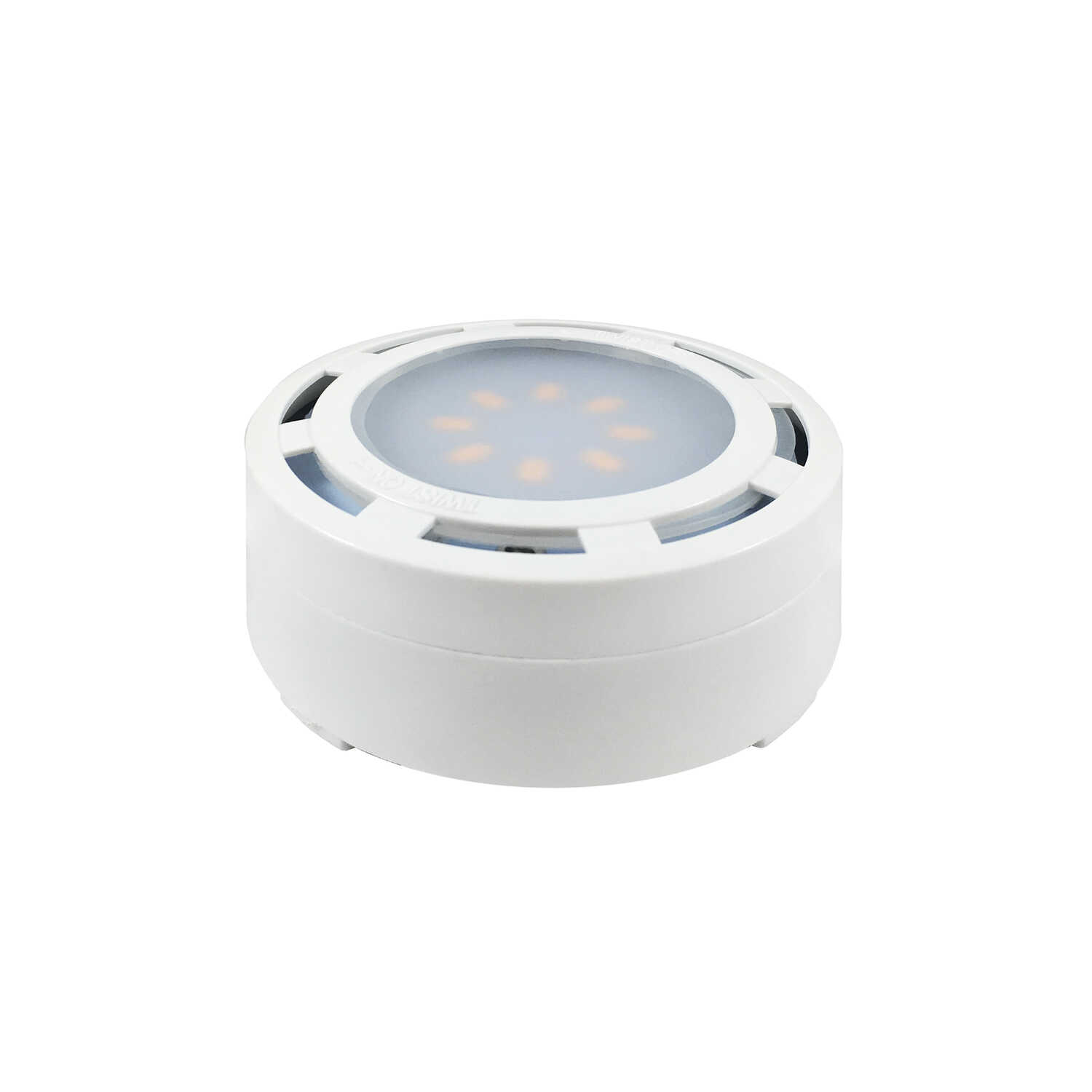 Amertac  White  Plug-In  LED  Puck Light Kit  3 pk