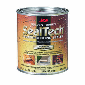 Ace  SealTech  Smooth  Clear  Solvent-Based  Multi-Surface Waterproofer  1 qt.