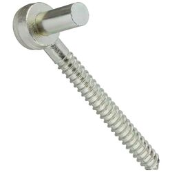National Hardware 7/8 in. W x 7-1/2 in. L Zinc Plated Steel Screw Hooks 1 pk