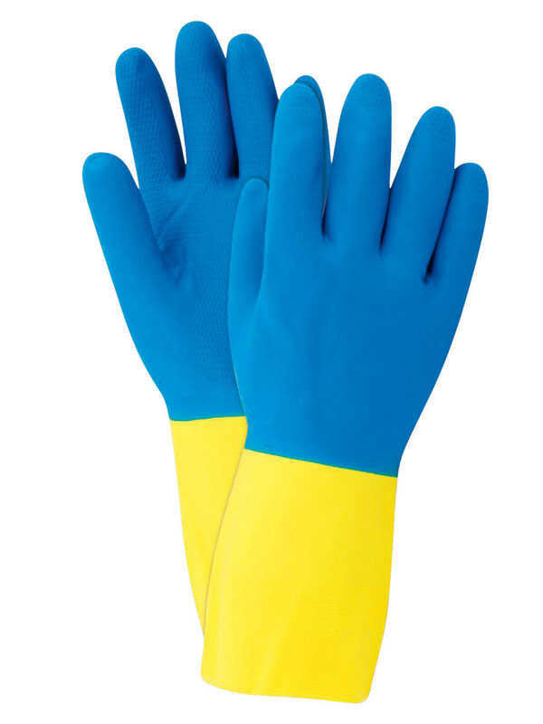 Soft Scrub  Latex  Cleaning Gloves  L  2 pc. Blue