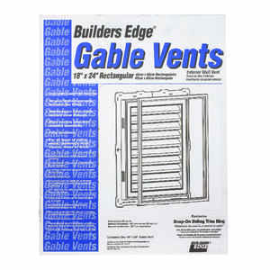 Builders Edge  18 in. W x 24 in. L White  Plastic  Gable Vent