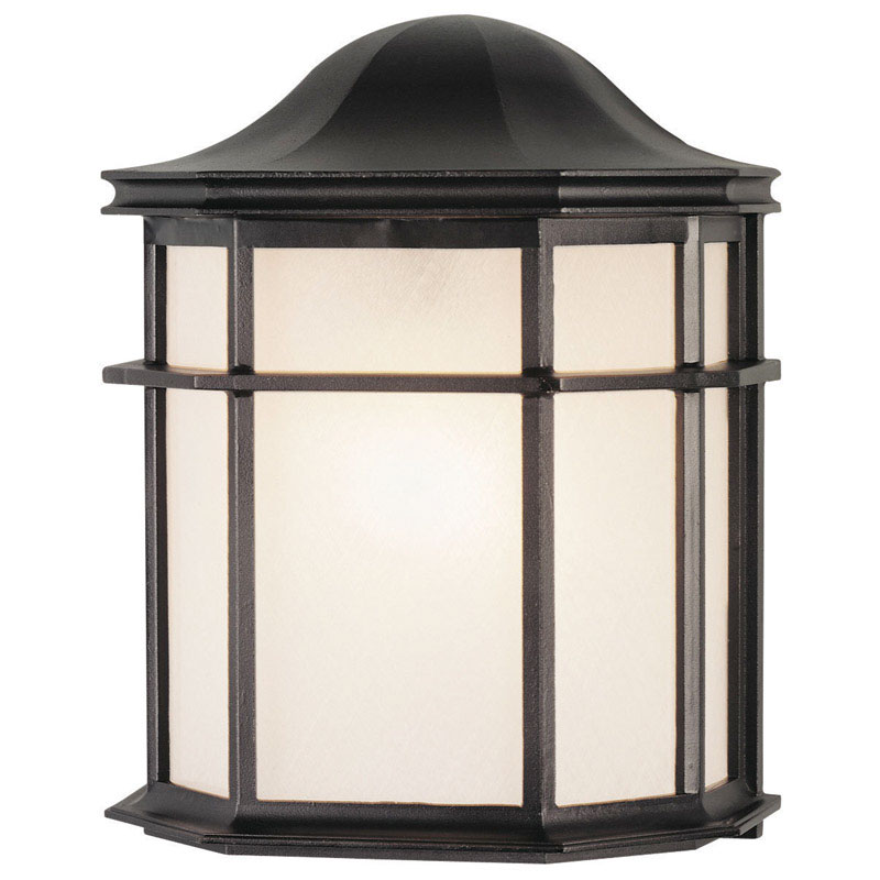 Westinghouse  Textured  Black  Incandescent  Wall Lantern