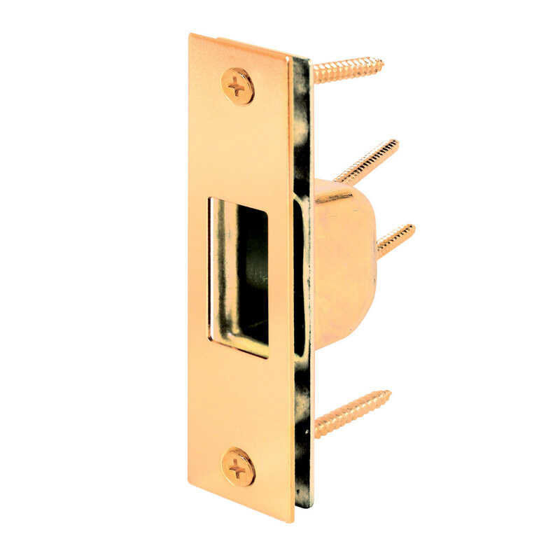 Prime-Line  4.875 in. H x 1.25 in. L Brass-Plated  Steel  High Security Box Strike