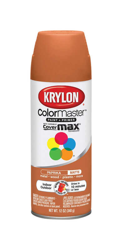 Krylon  ColorMaster  Matte  Paprika  Spray Paint  12 oz.