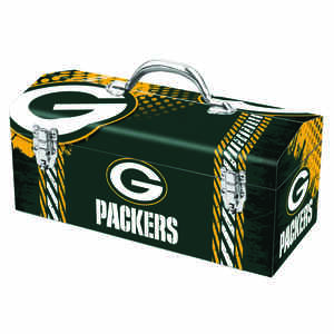 Sainty International  16.25 in. Green Bay Packers  Art Deco Tool Box  Steel  7.75 in. H x 7.1 in. W