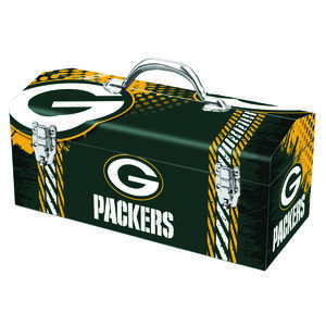 Sainty International  Green Bay Packers  Steel  Art Deco Tool Box  7.1 in. W x 7.75 in. H NFL  16.25