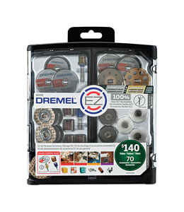 Dremel  EZ Lock  7   x 7 in. L Rotary Accessory Kit  Metal  70 pk