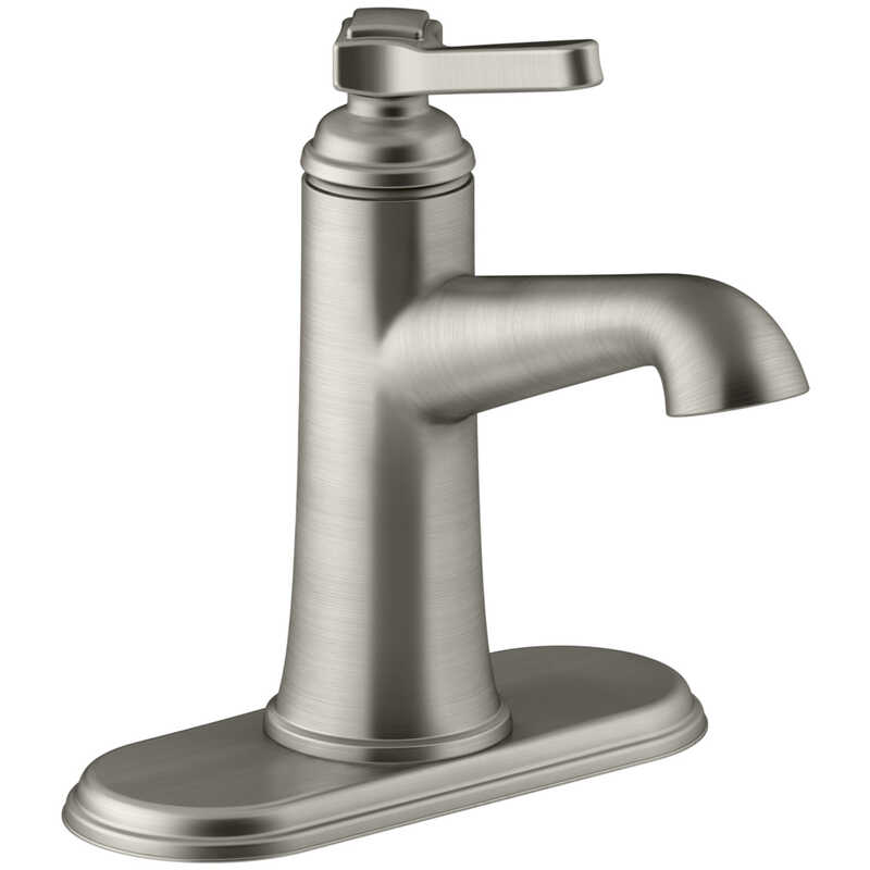 Kohler  Georgeson  Single Handle  Lavatory Faucet  4 in. Brushed Nickel
