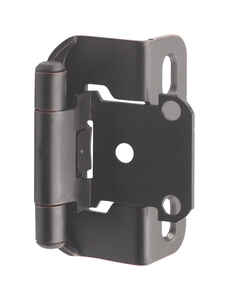 Amerock  1-1/2 in. W x 2-1/4 in. L Oil Rubbed Bronze  Steel  Self-Closing Hinge  2 pk