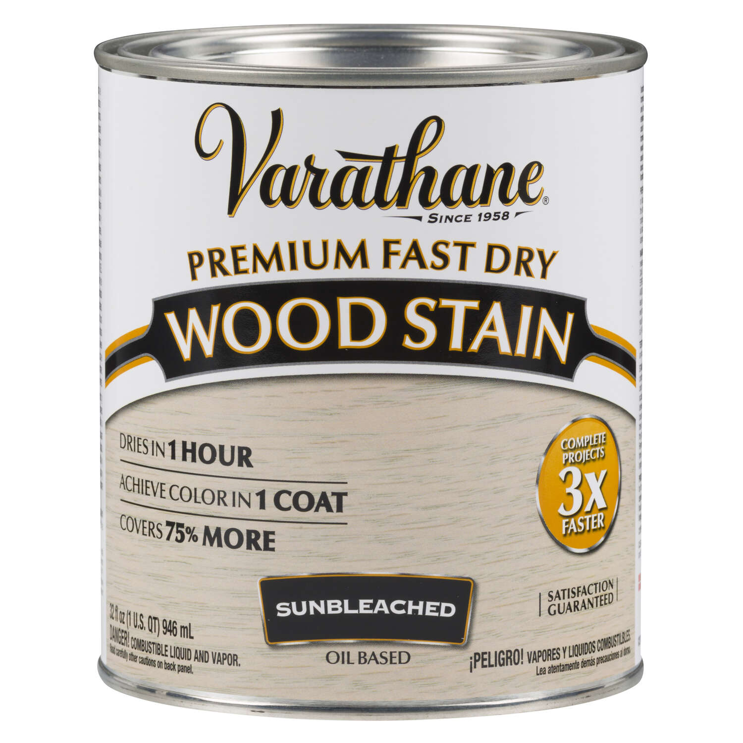 Varathane  Semi-Transparent  Sunbleached  Oil-Based  Urethane Modified Alkyd  Wood Stain  1 qt.