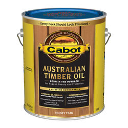Cabot Transparent Honey Teak Oil-Based Alkyd Australian Timber Oil 1 gal.