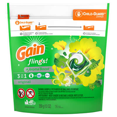 Gain  Flings  Original Scent Laundry Detergent  Pod  16 pk