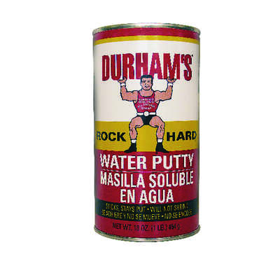 Durhams Rock Hard  Natural Cream  Water Putty  16 oz.
