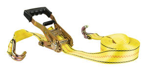 Keeper  2 in. W x 27 ft. L Yellow  Cargo Strap  10000 lb. 1 pk