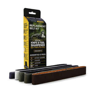 Work Sharp Outdoor  12 in. L x 0.75 in. W Ceramic Blend  Abrasive Belt  Assorted  5 pc.