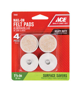 Ace  Felt  1-1/2 in. Nail On  Cushioned Glide  4 pk
