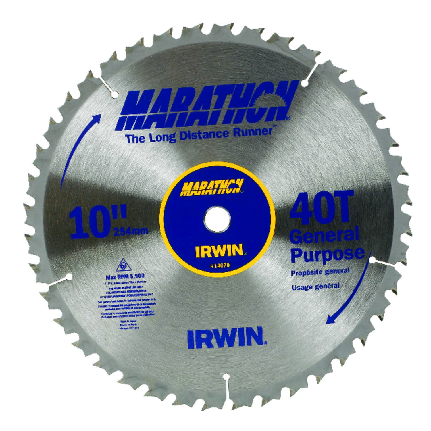 Irwin 10 in dia x 58 in carbide miter and table saw blade 1 pk carbide miter and table keyboard keysfo Choice Image