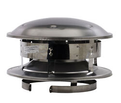 Selkirk  8 in. Dia. Stainless Steel  Round Top Dome