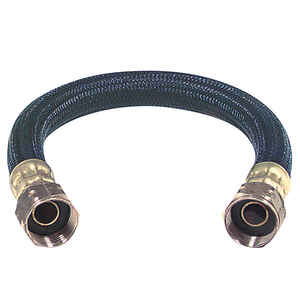 Brasscraft  3/4 in. FIP   x 3/4 in. Dia. FIP  Polymer  Water Heater  Supply Line  24 in.