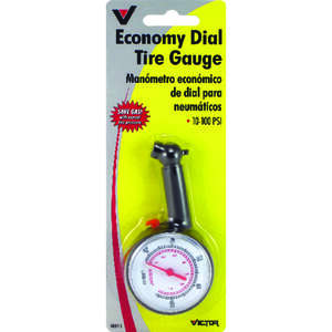 Victor  5 psi 55 psi Dial  Multi-Function Tire Gauge