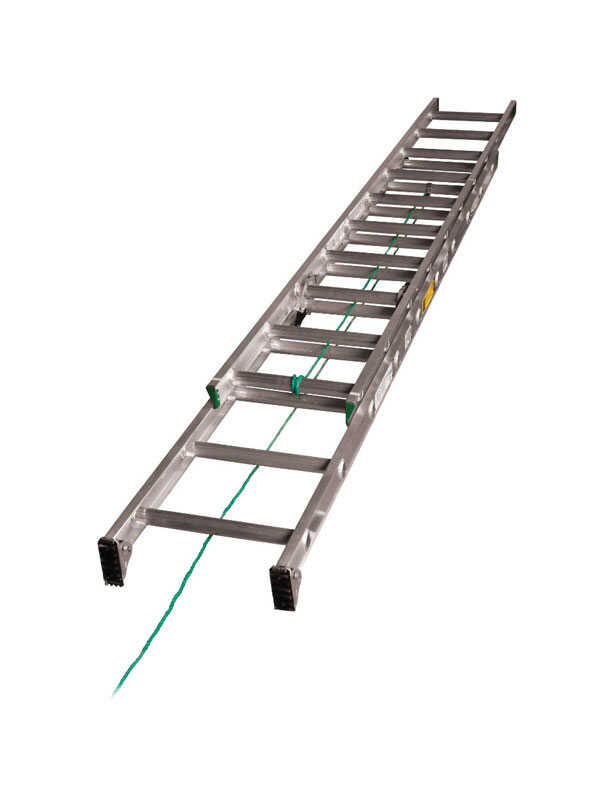 Werner 20 ft. H x 17.33 in. W Aluminum Extension Ladder Type II 225 ...