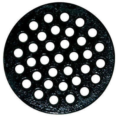 Sioux Chief 8-7/8 in. Epoxy Coated Black Round Cast Iron Floor Drain Strainer