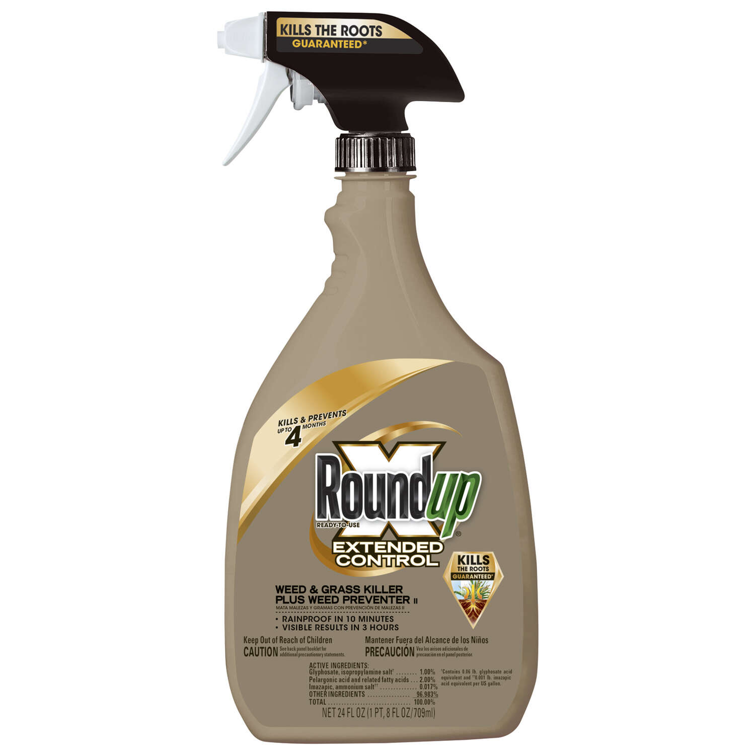 Roundup  Extended Control  RTU Liquid  Weed and Grass Killer  24 oz.
