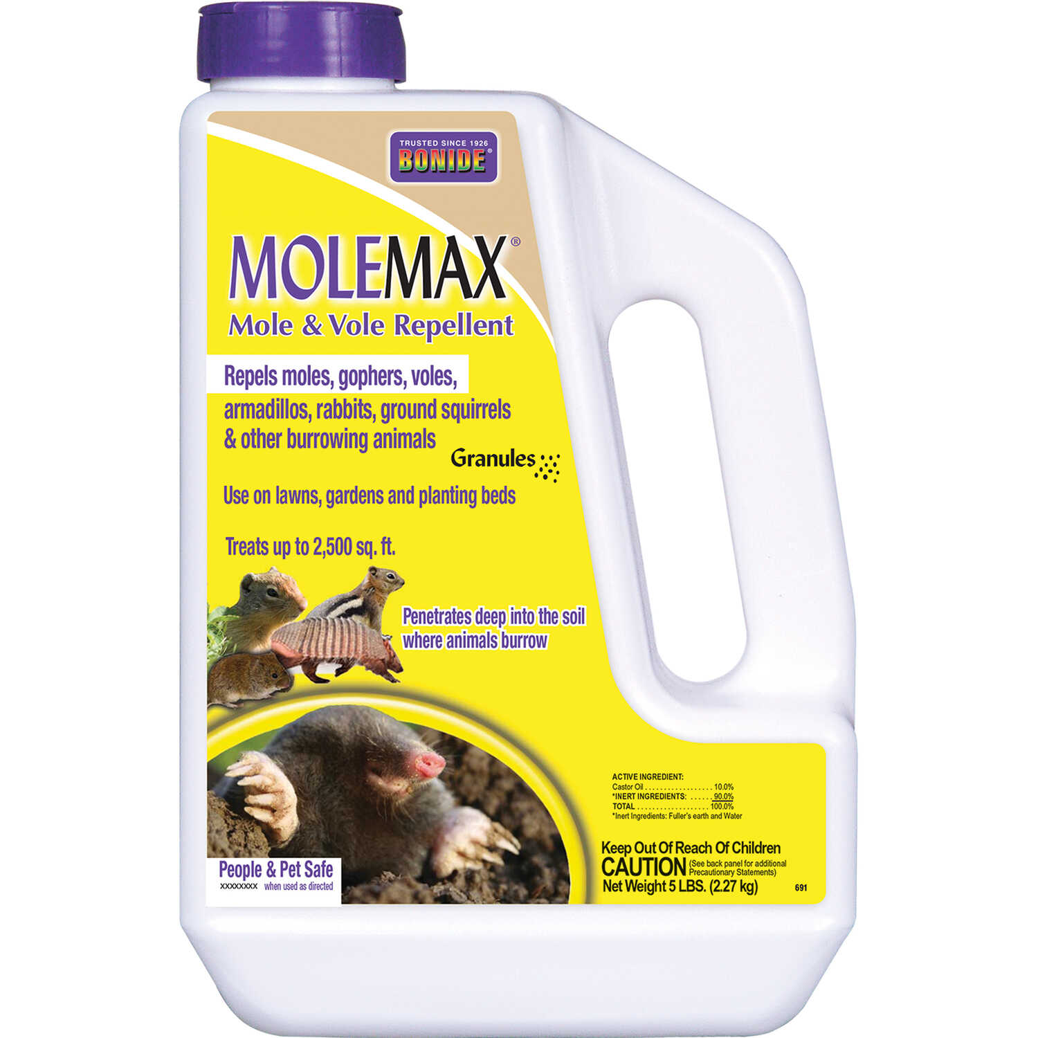 Bonide  MoleMax  For Moles/Voles Animal Repellent  5 lb.