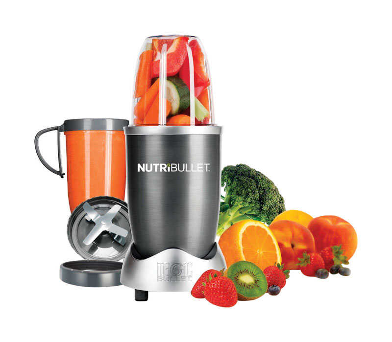 Magic Bullet  Nutri Bullet  Gray  Stainless Steel  Blender and Food Processor  24  1 speed