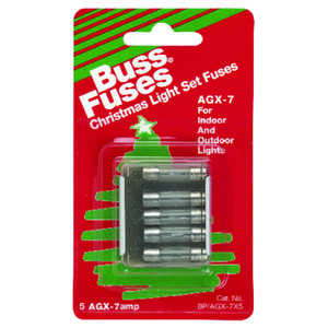 Bussmann  7 amps 125 volts Glass  Fast Acting Fuse  5 pk