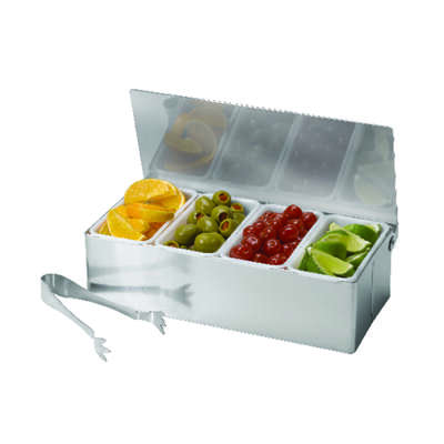 Tablecraft  Silver  ABS/Stainless Steel  Bar Caddy w/Tongs