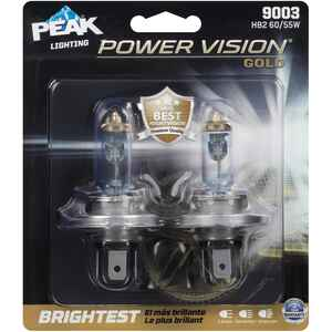 Peak  Power Vision Gold  Halogen  Automotive Bulb  9003 HB2 60/55W  2 pk