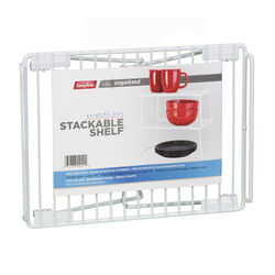 Grayline  Life Organized  6 in. H x 9 in. W x 13-1/2 in. L PE Coated  White  Stackable Shelf